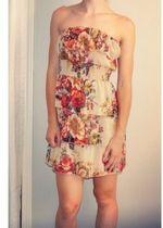 Layered Flowery Dress