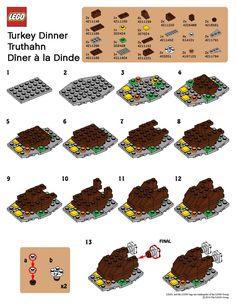 LEGO table turkey