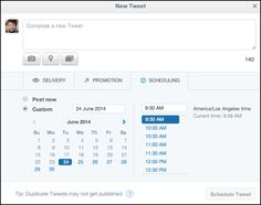 The secret way to schedule tweets WITHIN TWITTER. A must-read!  #twitter #socmed