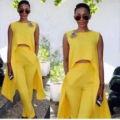 Ways To Wear Off The Shoulder Outfitts On Summer African Attire, African Wear, African Fashion Dresses, African Dress, Chic Outfits, Fashion Outfits, Womens Fashion, Mode Chic, Yellow Fashion