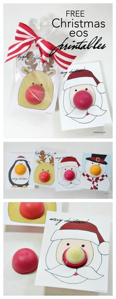 Christmas   Free printable eos Christmas Gifts or stocking stuffers for your friends, family and teachers.  So easy to make and so fun for someone who loves eos.