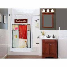 Cortina de Banheiro inspirada nas antigas cabines fotográficas instantâneas. Favor entrar sem roupa :-)