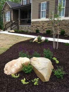 Landscaping with rocks /boulders