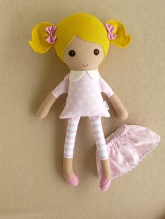 Reserved for Meagan Fabric Doll Rag Doll Blond by rovingovine