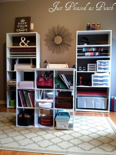 A Budget Friendly Craft Room Via Craftstorageideas Desk