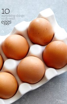 Get crackin'! Eggs are the ultimate meal-maker. We prove it with 10 fresh ways to use 'em: http://www.bhg.com/recipes/dinner/10-surprising-things-to-do-with-eggs/?socsrc=bhgpin120814eggsreimagined
