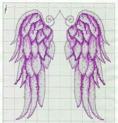angel wings free cross stitch pattern - Yahoo Image Search Results