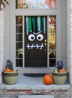 Scare Trick or Treaters on Halloween with a front door monster!
