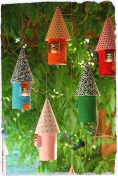 Sweetest bird houses with toilet paper tubes!!!