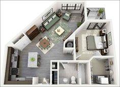 """Các nhà thiết kế đã tận dụng sự """"méo mó"""" của căn hộ để gia tăng không gian bếp thêm rộng rãi thuận tiện cho việc di chuyển và nấu nướng hơn."""