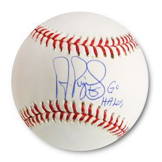 Los Angeles Angels of Anaheim Albert Pujols Autographed Baseball with Go Halos Ins
