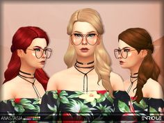 The Sims Resource: Enriques4-Anastasia Hair by Jruvv • Sims 4 Downloads