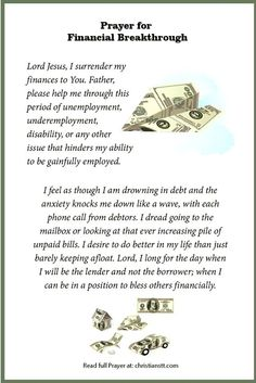 Prayer | financial breakthrough