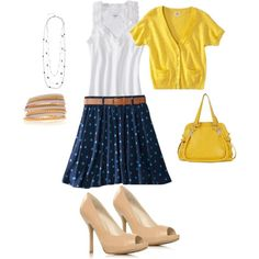 """summer work outfit"" by selinadudley on Polyvore"