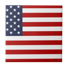American Flag Ceramic Tiles!  #new #flag #zazzle #store #gift #shop #customize #home #apparel #office http://www.zazzle.com/flagsbydww25921*