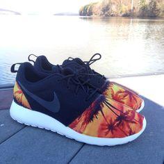 Custom Nike Roshe Run Sunset Beach by customsxcario on Etsy