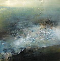 Caroline Archambault 2013-14 Seascape Paintings, Landscape Paintings, Contemporary Art Artists, Encaustic Painting, Pastel Art, Abstract Landscape, Painting Techniques, Painting Inspiration, Watercolor Art