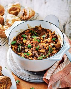 Jane Sanderson's grandmother used to make this hearty meal on a Monday with the leftovers from Sunday's roast dinner. Part casserole and part hash this recipe exudes flavour, warmth and comfort.
