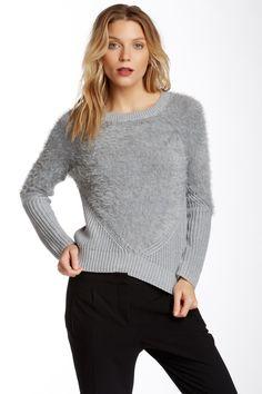 Long Sleeve Eyelash Yarn Sweater