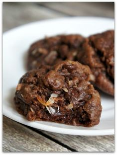 double chocolate cookies with coconut