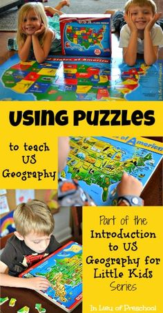 Teaching US Geography with Puzzles - In Lieu of Preschool