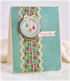 Shaker card tutorial by Debbie Olson for Papertrey Ink (October 2011).