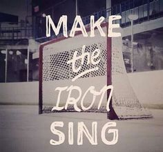 "A goalie's favorite sound. Position's right, that ""Ding"" is all they're going to get :-)"