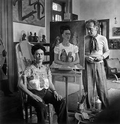 "Nickolas Muray  Frida Painting ""Me and my Parrots"" (with Nickolas Muray)  c. 1939"