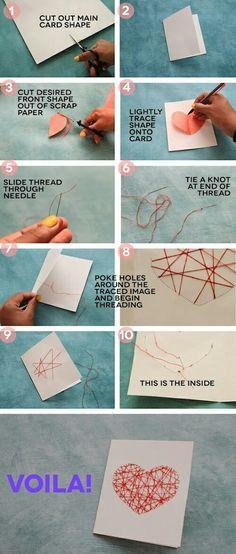 Thread a card