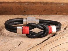 FREE SHIPPING Mens leather bracelet.Men bracelet.Leather knot