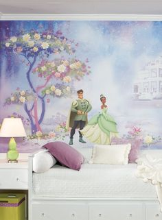 Disney wall murals on pinterest disney mural disney for Disney princess ballroom wall mural