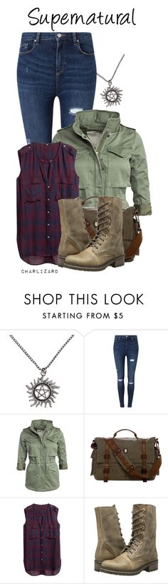 """Supernatural"" by charlizard ❤ liked on Polyvore featuring Miss Selfridge, Denim & Supply by Ralph Lauren, H&M and Steve Madden"