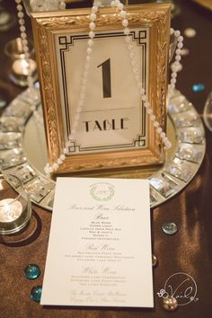 old hollywood glam wedding blue and gold - Google Search