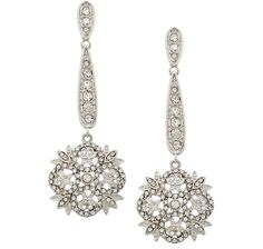 Jackie Kennedy Winter Crystal Earrings