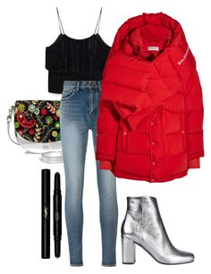 """""""Untitled #2844"""" by moria801 ❤ liked on Polyvore featuring Frances Valentine, Yves Saint Laurent and Balenciaga"""