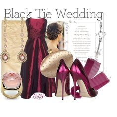 Black Tie Wedding, created by snippins on Polyvore