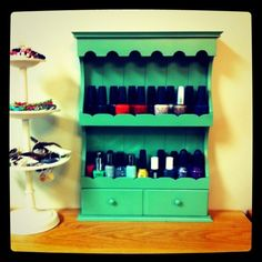 craft ideas using spice rack | made this using a spice rack and spray paint! :) for real!