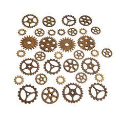 34 engrenages rouages lot steampunk mécanisme montre en laiton bronze : Montres…