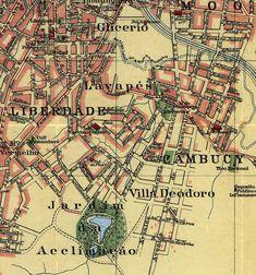 Old Map of São Paulo Brasil 1913 Vintage by OldCityPrints on Etsy