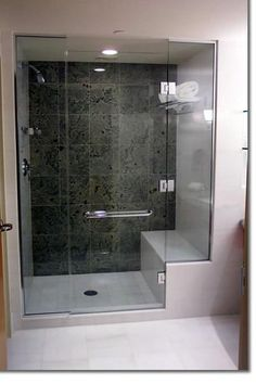 Shower with seat.. My old house had this - It doesn't get much better!
