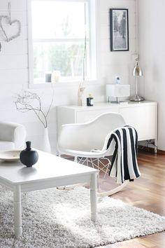 #white #modern #living_room