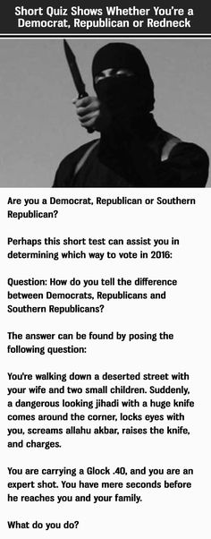 Let us know how you do.   No Surprise, I'm a Republican.