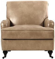 Home Decorators Collection Charles Oregon Putty Natural Linen Arm Chair 1599400270 - The Home Depot Wooden Patio Chairs, Wood Dining Bench, Leather Dining Room Chairs, Mid Century Dining Chairs, Arm Chairs, Eames Chairs, Hanging Swing Chair, Swinging Chair, Kitchen Chair Pads