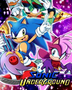 Sonic underground by Drawloverlala on DeviantArt Game Sonic, Sonic 3, Sonic Fan Art, Sonic The Hedgehog, Shadow Sonic, Sonic Underground, Sonic Funny, Sonic Fan Characters, Sonic Franchise