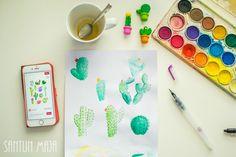 Santun Maja: Pinterestistä idea ja oma toteutus sen mukaan // #cardideas #cardmaking #cards #crafting