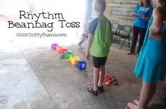 Rhythm Beanbag Toss game - perfect for music camps!