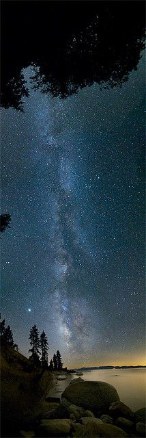 Tahoe + Milky Way + Vertical Panel = :) by liquid in plastic, via Flickr