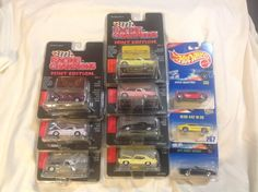 Lot of 7 Racing Champions Mint Edition Hot Rods And 3 Hot Wheels 1/64 Die Cast #HotWheels