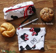 Szett: Tolltartó és Öko szendvics-csomagolás (Minnie mintás) (pannika) - Meska.hu Minnie, Lunch Box