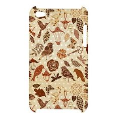 iPod 4 Leaves and Birds Pattern iPod Touch 4 4G 4th Hardshell Case Cover